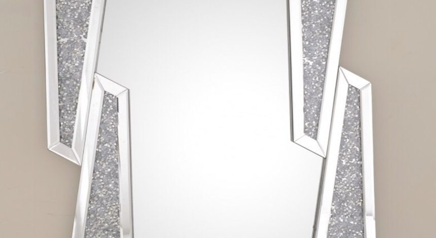 Designer Crushed Style Wall Mirror